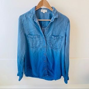 Anthropologie Tops - Anthro Cloth & Stone chambray denim shirt L